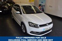 USED 2014 64 VOLKSWAGEN POLO 1.2 SE TSI DSG 3d AUTO 89 BHP 1 LADY OWNER , FULL VW SERVICE HISTORY