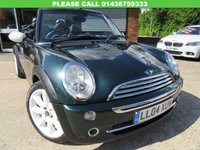 USED 2004 04 MINI CONVERTIBLE 1.6 COOPER 2d 114 BHP FULL LEATHER, SAT NAV, HPI CLEAR, SERVICE HISTORY, SPARE KEY