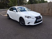 2014 LEXUS IS 2.5 300H F SPORT 4d AUTO 220 BHP £13998.00