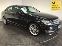 USED 2013 63 MERCEDES-BENZ C CLASS 2.1 C220 CDI BLUEEFFICIENCY AMG SPORT 4d AUTO 168 BHP HISTORY-NAV-BLUETOOTH-LEATHER