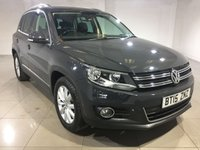 USED 2015 15 VOLKSWAGEN TIGUAN 2.0 MATCH TDI BLUEMOTION TECHNOLOGY 5d 139 BHP One Owner From New/Sat Nav