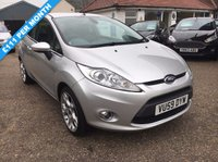 USED 2009 59 FORD FIESTA 1.6 TITANIUM 3d 118 BHP LOW MILEAGE/ FULL LEATHER / FULL SERVICE HISTORY