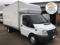 USED 2012 61 FORD TRANSIT 2.4 TDCI 350 EXTRA LONG DRW 115 BHP LUTON WITH 500KG TAIL LIFT