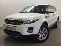 USED 2012 62 LAND ROVER RANGE ROVER EVOQUE 2.2 SD4 PURE 5d AUTO 190 BHP 4WD LEATHER PDC FSH 4WD. STUNNING WHITE WITH FULL BLACK LEATHER TRIM. HEATED SEATS. CRUISE CONTROL. 18 INCH ALLOYS. COLOUR CODED TRIMS. PARKING SENSORS. BLUETOOTH PREP. AIR CON. MULTIMEDIA SYSTEM. R/CD/DAB RADIO. PADDLESHIFT AUTO. MFSW. MOT 09/18. ONE PREV OWNER. FULL SERVICE HISTORY. FCA FINANCE APPROVED DEALER. TEL 01937 849492