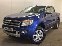 USED 2013 63 FORD RANGER 2.2 LIMITED 4X4 DCB TDCI 1d 148 BHP LEATHER RUNNING BOARDS FSH NO VAT   NO FINANCE REPAYMENTS FOR 2 MONTHS STC. NO VAT. 4WD. STUNNING BLUE MET WITH FULL BLACK LEATHER TRIM. ELECTRIC HEATED SEATS. CRUISE CNTROL. RUNNING BOARDS. AIR CON. 17 INCH ALLOYS. COLOUR CODED TRIMS. PARKING SENSORS. BLUETOOTH PREP. R/CD PLAYER. 6 SPEED MANUAL. MFSW. CARGO LINING. MOT 09/18. ONE PREV OWNER. FULL SERVICE HISTORY. FCA FINANCE APPROVED DEALER. TEL 01937 849492