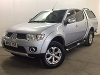 USED 2013 63 MITSUBISHI L200 2.5 DI-D 4X4 BARBARIAN LB DCB 1d 175 BHP 4WD SAT NAV LEATHER RUNNING BOARDS FSH NO FINANCE REPAYMENTS FOR 2 MONTHS STC. COMMERCIAL (£12300+2460VAT). 4WD. SATELLITE NAVIGATION. HARDTOP CANOPY. STUNNING SILVER MET WITH FULL BLACK BARBARIAN LEATHER TRIM. RUNNING BOARDS. CRUISE CONTROL. AIR CON. 17 INCH ALLOYS. COLOUR CODED TRIMS. PRIVACY GLASS. REVERSING CAMERA. BLUETOOTH PREP. KENWOOD CUSTOM MULTIMEDIA. PAS. EW. MFSW. TOWBAR. MOT 05/18. ONE PREV OWNER. FULL SERVICE HISTORY. FCA FINANCE APPROVED DEALER. TEL 01937 849492