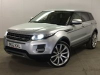 USED 2012 62 LAND ROVER RANGE ROVER EVOQUE 2.2 ED4 PURE TECH 5d 150 BHP SAT NAV LEATHER PRIVACY PDC FSH SATELLITE NAVIGATION. STUNNING SILVER MET WITH FULL BLACK LEATHER TRIM. HEATED SEATS. CRUISE CONTROL. 22 INCH UPGRADED ALLOYS. COLOUR CODED TRIMS. PRIVACY GLASS. PARKING SENSORS. BLUETOOTH PREP. AIR CON. MULTIMEDIA SYSTEM. R/CD/DAB RADIO. 6 SPEED MANUAL. MFSW. MOT 09/18. ONE PREV OWNER. FULL SERVICE HISTORY. FCA FINANCE APPROVED DEALER. TEL 01937 849492