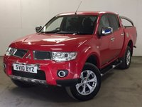 USED 2010 10 MITSUBISHI L200 2.5 DI-D 4X4 BARBARIAN LB DCB 1d AUTO 175 BHP SAT NAV LEATHER SIDE STEPS CANOPY FSH NO FINANCE REPAYMENTS FOR 2 MONTHS STC. COMMERCIAL (£11300+2260VAT). RARE AUTO 4WD. SATELLITE NAVIGATION. STUNNING RED MET WITH FULL BLACK LEATHER BARBARIAN TRIM. CRUISE CONTROL. RUNNING BOARDS. AIR CON. 17 INCH ALLOYS. COLOUR CODED TRIMS. PRIVACY GLASS. PARKING SENSORS. BLUETOOTH PREP. PAS. R/CD PLAYER. MFSW. TOWBAR. MOT 06/18. ONE PREV OWNER. FULL SERVICE HISTORY. FCA FINANCE APPROVED DEALER. TEL 01937 849492