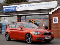 USED 2014 64 BMW 1 SERIES 2.0 118D SPORT 5dr (140) * Leather & Sat Nav * *ONLY 9.9% APR with FREE Servicing*