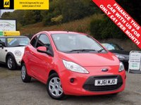 USED 2011 61 FORD KA 1.2 EDGE 3d 69 BHP GENUINE LOW MILEAGE EXAMPLE, JUST BEEN SERVICED AND MOT'D, READY TO BE DRIVEN AWAY TODAY! GREAT LITTLE CAR, ONLY £30 FOR 12 MONTHS ROAD TAX