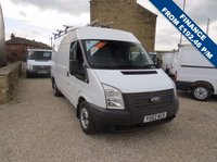 USED 2013 62 FORD TRANSIT 100T 280 2.2TDCi MWB MEDIUM ROOF VAN ONE OWNER - FSH - ONLY 72,000m