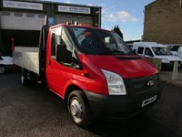 2014 FORD TRANSIT 125T 350 2.2TDCi LWB DROPSIDE WITH TAIL LIFT £9995.00