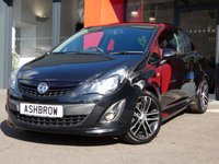 USED 2014 14 VAUXHALL CORSA 1.4T BLACK EDITION 3d 120 S/S MANUAL 5 SPEED GEARBOX, COLOUR CODED EXTERIOR, FRONT FOG LIGHTS, PRIVACY GLASS FULL BODY KIT, 17 INCH 10 SPOKE ALLOYS, GREY CLOTH INTERIOR, SPORT SEATS, LEATHER MULTIFUNCTION STEERING WHEEL, ALUMINIUM PEDALS, CRUISE CONTROL, AIR CONDITIONING, CD HIFI, AUX INPUT, 3x 3 POINT REAR SEAT BELTS, ISO FIX, FOLDING REAR SEATS, ELECTRIC WINDOWS, ELECTRIC MIRRORS, REMOTE CENTRAL LOCKING. SERVICE HISTORY, HPI CLEAR, PART EXCHANGE TO CLEAR.