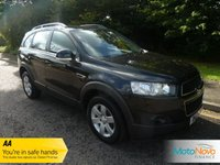 USED 2012 12 CHEVROLET CAPTIVA 2.2 LS VCDI 5d 163 BHP FANTASTIC VALUE CAPTIVA DIESEL WITH ONE PREVIOUS LADY OWNER, AIR CONDITIONING, ALLOY WHEELS FIVE SEATS AND A HUGE BOOT.