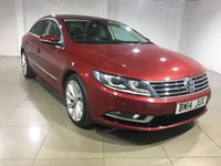 USED 2014 14 VOLKSWAGEN CC 2.0 GT TDI BLUEMOTION TECHNOLOGY 4d 138 BHP One Owner From New/Huge Spec