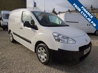 USED 2014 14 PEUGEOT PARTNER 1.6 HDI PROFESSIONAL L1 625 74 BHP 3 SEATER MODEL WITH AIR-CON, - ONE OWNER - FSH - 32,000m ONLY!!