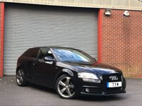 USED 2010 60 AUDI A3 2.0 TDI BLACK EDITION 3d AUTO 138 BHP BOSE SOUND+PRIVACY GLASS+XENON