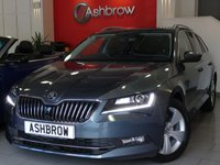 USED 2016 16 SKODA SUPERB ESTATE 1.6 TDI SE L EXECUTIVE GREENLINE 5d 120 S/S £0 TAX, 1 OWNER FROM NEW, FULL SERVICE HISTORY, UPGRADE REAR VIEW PARKING CAMERA, UPGRADE HILL HOLD CONTROL,UPGRADE MAXI DOT COLOUR DIS TRIP COMPUTER W/ DIGITAL SPEED DISPLAY, UPGRADE FULL BLACK LEATHER, HEATED FRONT SEATS, ELECTRIC MEMORY DRIVER'S SEAT, HDD NAV W/ JUKEBOX,BLUETOOTH W/ AUDIO STREAMING,BI XENON HEADLIGHTS W/ LED DRL,LED OPTIC TAIL LIGHTS,ACC ADAPTIVE CRUISE CONTROL,FRONT ASSIST (AMBIENT TRAFFIC WARNING SYS),PARKPILOT REAR PARKING SENSORS W/ DISPLAY + REAR CAMERA,DAB,AUX+USB,VAT Q