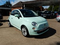 USED 2014 64 FIAT 500 1.2 LOUNGE 3d 69 BHP ONE OWNER,TWO KEY'S,FSH,TWO KEYS,BLUE AND ME,