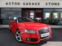 USED 2011 61 AUDI A5 CABRIOLET 2.0 TDI S LINE 2d CABRIOLET 168 BHP ** F/A/SH * LEATHER ** ** F/A/S/H * LEATHER * XENONS **