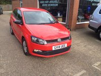 USED 2014 14 VOLKSWAGEN POLO 1.0 S AC 3 DOOR 60 BHP IN RED WITH ONLY  APPROVED CARS ARE PLEASED TO OFFER THIS VOLKSWAGEN POLO 1.0 S AC 3 DOOR 60 BHP IN RED WITH A BLACK INTERIOR AND A FULL SERVICE HISTORY WITH 3 SERVICE STAMPS AN IDEAL FIRST CAR OR SMALL FAMILY RUNAROUND.