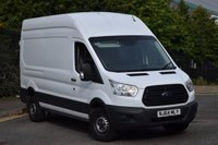 USED 2014 64 FORD TRANSIT 2.2 350 H/R P/V 5d 124 BHP LWB L3 H3 EURO 5 DIESEL MANUAL VAN TWO OWNERS FULL S/H SPARE KEY MUST SEE