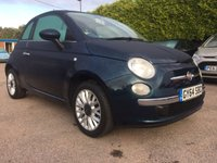 2014 FIAT 500 1.2 LOUNGE 3d  AIRCON AND PAN ROOF £6000.00