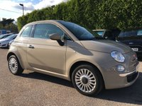 2014 FIAT 500 1.2 LOUNGE 3d  AIRCON AND PAN ROOF £5500.00