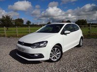 USED 2015 65 VOLKSWAGEN POLO 1.2 SE TSI DSG 3d AUTO 89 BHP VW WARRANTY REMAINING UNTIL SEPTEMBER 2018
