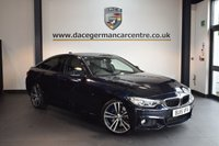 USED 2015 15 BMW 4 SERIES 3.0 430D M SPORT GRAN COUPE 4DR AUTO 255 BHP + FULL BLACK LEATHER INTERIOR + FULL BMW SERVICE HISTORY + 1 OWNER FROM NEW + PRO SATELLITE NAVIGATION + BLUETOOTH + XENON LIGHTS + HEATED SPORT SEATS WITH MEMORY + REVERSE CAMERA + HARMAN/KARDON SPEAKERS + CRUISE CONTROL + PARKING SENSORS + 19 INCH ALLOY WHEELS +