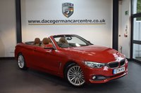 USED 2014 14 BMW 4 SERIES 2.0 420D LUXURY 2DR AUTO 181 BHP + FULL LEATHER INTERIOR + FULL SERVICE HISTORY + 1 OWNER FROM NEW + PRO SATELLITE NAVIGATION + BLUETOOTH + XENON LIGHTS + HEATED SPORT SEATS + DAB RADIO + PARKING SENSORS + 18 INCH ALLOY WHEELS +