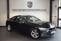 USED 2014 64 BMW 4 SERIES 2.0 420I SE 2DR 181 BHP + FULL LEATHER INTERIOR + 1 OWNER FROM NEW + BUSINESS SATELLITE NAVIGATION + BMW SERVICE HISTORY + BLUETOOTH + XENON LIGHTS + HEATED SPORT SEATS + CRUISE CONTROL + PARKING SENSORS + 18 INCH ALLOY WHEELS +
