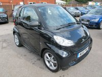 USED 2012 61 SMART FORTWO 1.0 PULSE MHD 2d AUTO 71 BHP BLACK + L MILES