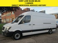 USED 2014 14 MERCEDES-BENZ SPRINTER 2.1 313CDI LWB HIGH ROOF. FACELIFT. VERY LOW 29,000 MILES. FSH LOW 29K. FSH. LOW RATE FINANCE. PX WELCOME