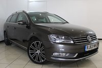 USED 2014 63 VOLKSWAGEN PASSAT 2.0 SPORT TDI BLUEMOTION TECHNOLOGY 5DR 175 BHP FULL VW SERVICE HISTORY + SAT NAVIGATION + BLUETOOTH + MULTI FUNCTION WHEEL + 17 INCH ALLOY WHEELS