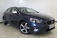 USED 2014 14 VOLVO V40 1.6 D2 R-DESIGN LUX 5DR 113 BHP VOLVO SERVICE HISTORY + LATHER SEATS + CLIMATE CONTROL + BLUETOOTH + CRUISE CONTROL + MULTI FUNCTION WHEEL + 17 INCH ALLOY WHEELS