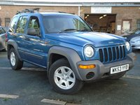 USED 2003 53 JEEP CHEROKEE 2.5 SPORT CRD 5d 141 BHP NEW MOT ON SALE+7 SERVICE STAMPS IN BOOK,  LAST OWNER SINCE 2011
