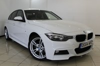 USED 2014 64 BMW 3 SERIES 2.0 320D M SPORT 4DR 181 BHP BMW SERVICE HISTORY + HEATED LEATHER SEATS + SAT NAVIGATION + PARKING SENSOR + BLUETOOTH + CRUISE CONTROL + MULTI FUNCTION WHEEL + 18 INCH ALLOY WHEELS