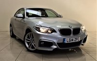 USED 2014 14 BMW 2 SERIES 2.0 218D M SPORT 2d 141 BHP + 1 OWNER FROM NEW  + AIR CON + AUX + SAT NAV + LEATHER SEATS