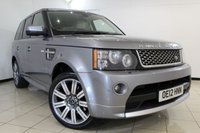 USED 2012 12 LAND ROVER RANGE ROVER SPORT 3.0 SDV6 AUTOBIOGRAPHY SPORT 5DR AUTOMATIC 255 BHP FULL LAND ROVER SERVICE HISTORY + FRONT AND REAR HEATED LEATHER SEATS + SAT NAVIGATION + REVERSE CAMERA + BLUETOOTH + CRUISE CONTROL + CLIMATE CONTROL + 20 INCH ALLOY WHEELS