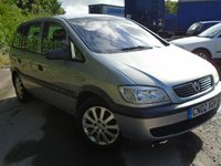 USED 2002 02 VAUXHALL ZAFIRA 1.6 CLUB 16V 5d 99 BHP 7 SEATER WITH MOT JUNE 2018