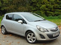 USED 2012 62 VAUXHALL CORSA 1.4 SXI AC 5d 98 BHP LOW MILEAGE AND FULL SERVICE HISTORY