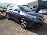 USED 2013 63 HONDA CR-V 1.6 I-DTEC SR 5d 118 BHP 1 OWNER FROM NEW * 4 HONDA SERVICE STAMPS LEATHER TRIM