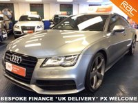 "USED 2013 13 AUDI A7 3.0 TDI QUATTRO DIESEL AUTO S LINE BLACK EDITION ONLY 30K MILES - FASH - 21"" ALLOYS - BOSE - PRIV GLASS"