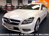 USED 2013 13 MERCEDES-BENZ CLS CLASS CLS350 CDI SHOOTING BRAKE AMG SPORT PLUS ESTATE ONLY 24,550 MILES - DIAMOND WHITE - LADY OWNED - FMSH