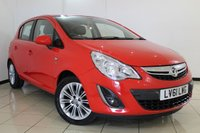 USED 2011 61 VAUXHALL CORSA 1.4 SE 5DR AUTOMATIC 98 BHP FULL SERVICE HISTORY + HEATED HALF LEATHER + LOW MILEAGE + HEATED STEERING WHEEL + PARKING SENSOR + CRUISE CONTROL + MULTI FUNCTION WHEEL + 16 INCH ALLOY WHEELS