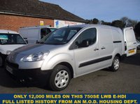 2014 PEUGEOT PARTNER 750SE LWB E-HDI. ONLY 12,000 MILES WITH 3 SEATS, FROM AN M.O.D. HOUSING CONTRACTORS. £7645.00
