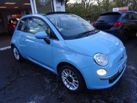 USED 2013 63 FIAT 500 1.2 CONVERTIBLE LOUNGE 3d 69 BHP Low Mileage, One Lady Owner from new, Just Serviced by ourselves, MOT until September 2018 (no advisories), Great on fuel! Only £30 Road Tax!
