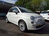 USED 2014 64 FIAT 500 1.2 CONVERTIBLE LOUNGE 3d 69 BHP