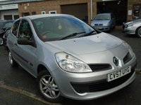 USED 2007 57 RENAULT CLIO 1.1 EXTREME 16V 3d 75 BHP NEW MOT ON SALE+CHEAP TO RUN